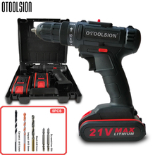 12V 21V 2Speed Cordless Drill Screwdrivers Power Tool Set Electric Screwdriver with Free Bits Part