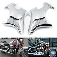 Motoparty Frame Neck Cover Protectors cap For Honda Shadow ACE VT400 VT750 1997 2003 VT 400 750 Neck Trim Fairing Covers