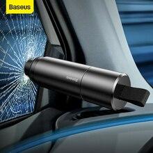 Baseus martillo de seguridad de coche rompecristales de cristal de ventana, herramienta de Escape para ahorrar vida, cuchilo de cinturón de seguridad, herramienta de rescate, accesorios de coche de alta calidad