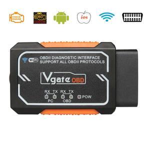 Image 1 - Vgate Elm327 V 1,5 WIFI OBD2 Diagnose Scanner Für Android/IOS/PC Elm327 Bluetooth OBD 2 Auto Diagnose tools Chip PIC18F2480