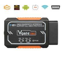 Vgate Elm327 V1.5 Wifi OBD2 Diagnose Scanner Voor Android/Ios/Pc Elm327 Bluetooth Obd 2 Auto Diagnostische Hulpmiddelen chip PIC18F2480