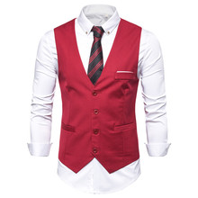 Plus Size Business Casual Social Vest Men Slim Wedding Suit Vests Men's Dress Sleeveless Blazer Coat Plus Size Formal Vest 6XL plus size flower sleeveless dress