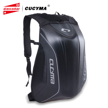 CUCYMA Waterproof Motorcycle Bag Motorcycle Backpack Carbon Fiber Motocross Racing Riding Helmet Bag Motorbike Moto Backpack