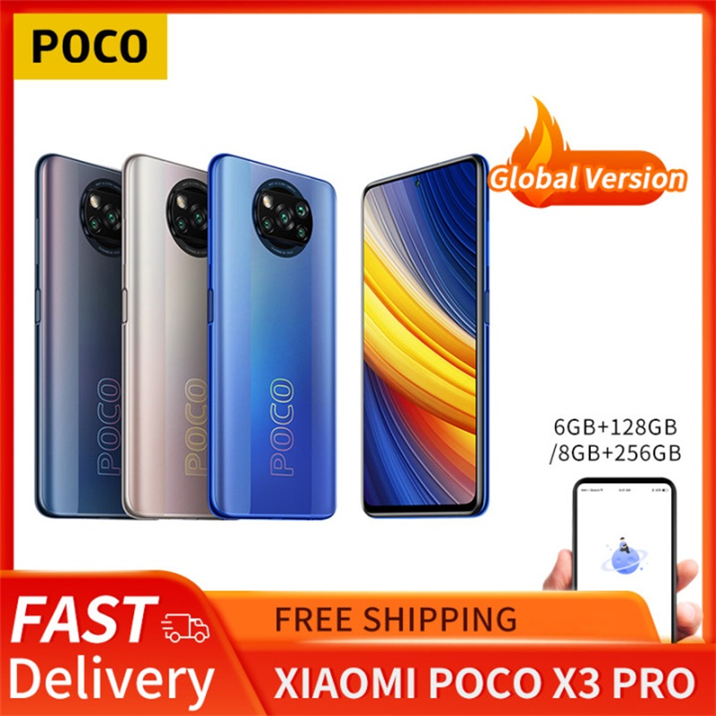 POCO X3 Pro 6GB+128GB/8GB+256GB Xiaomi Smartphone Snapdragon 860 120Hz DotDisplay 5160mAh 33W Charge Quad AI Camera