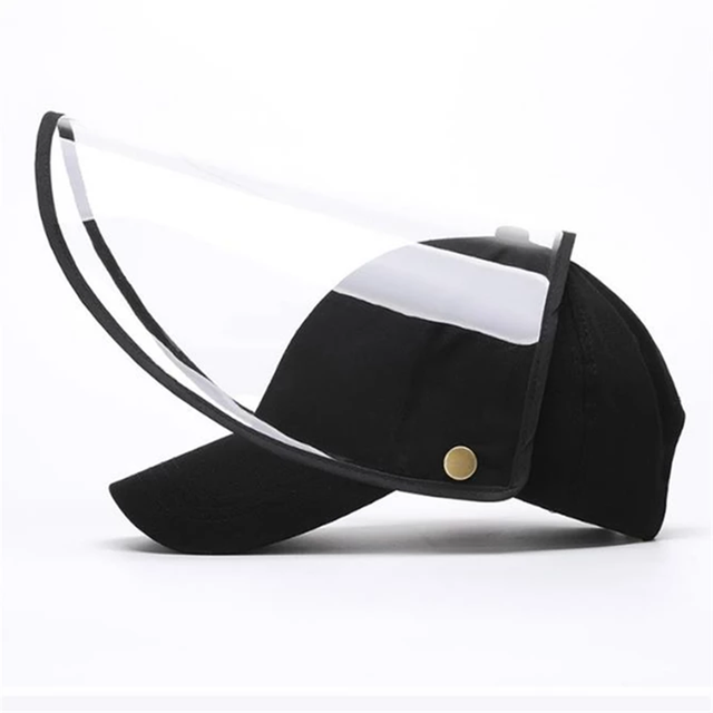 New Face Shield Hat Head Eye Protective Cap Anti-saliva Anti-Dust Hat Removable Face Cover Baseball Cap Dropshipping 2