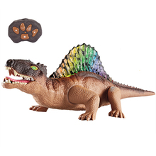 Electric Dinosaur Remote Control Kids Toys Animal Model With Light Sounds Children Birthday Gift