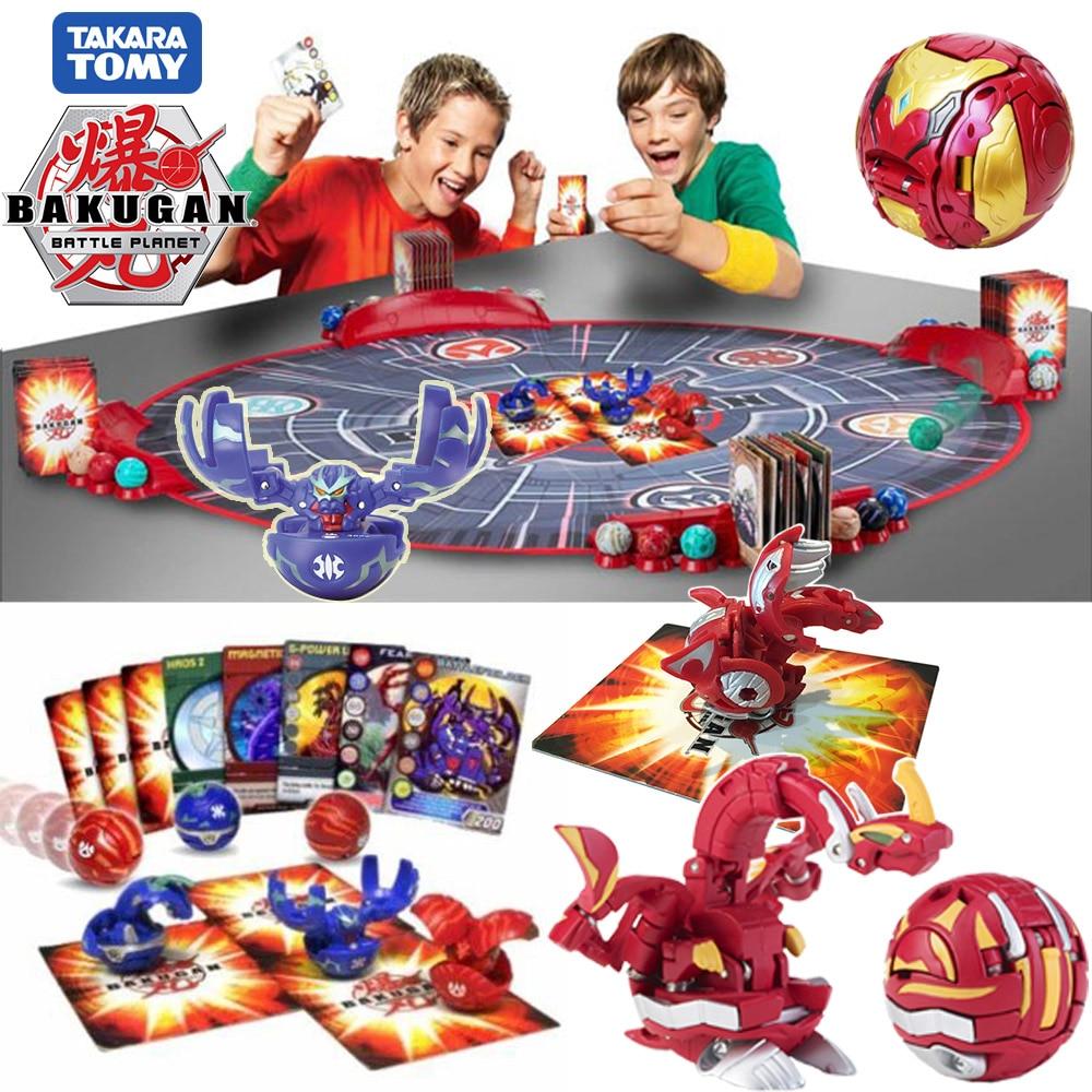 Takara Tomy Transformation Ball Battle Planet Toys Dragonid Baku Brawler Starter Pack Spining Top Game Toys For Kids
