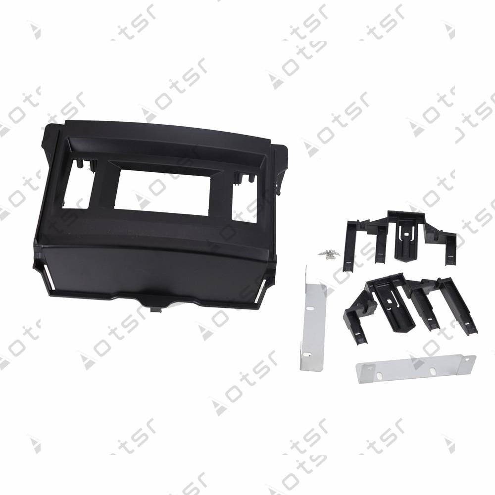 "Stereo Panel Plate  Car Radio Fascia  For TOYOTA Land Cruiser Prado 2009-2013 with 4.2"" LHD display Refitting Frame Dash Kit"