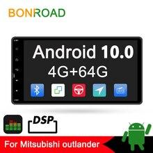 Bonroad 2din Android 10.0 Car Multimedia Player For outlander 3 lancer asx 2012 14 GPS Navigation radio Player no dvd amplifer