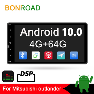 Bonroad 2din Android 10.0 Car Multimedia Player For outlander 3 lancer asx 2012-14 GPS Navigation radio Player no dvd amplifer(China)