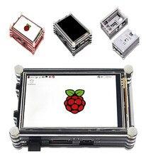 جديد 3.5 بوصة 64M SPI 30Hz شاشة الكريستال السائل طاقم شاشة تعمل باللمس مع 9 طبقات حالة الحرارة بالوعة ل التوت بي 3 B +