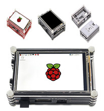 Kit de pantalla táctil LCD SPI 30Hz de 3,5 pulgadas, 64M, con carcasa de 9 capas, disipador de calor para Raspberry Pi 3 B +