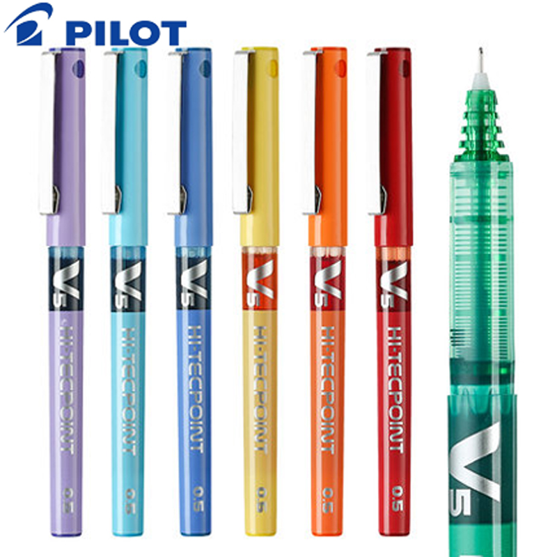 Image 5 - 12Pcs/lot Pilot BX V5 gel pens 0.5mm/0.7mm high quanlity Multicolor ink pens school & office stationery Writing suppliesGel Pens   -