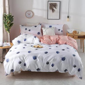49 Nordic style classic bedding set Ink point printing bed linens 3/4pcs duvet cover set bed sheet duvet cover pillow case