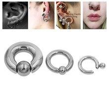 1pc tamanho da mistura de aço cirúrgico cativo argola anéis bcr anel sobrancelha tragus orelha piercing nariz encerramento bico barra lábios corpo jóias