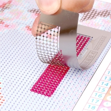 Ruler Painting-Tools Diamond Drawing Embroidery-Accessories Square Round-Drill DIY Stainless-Steel