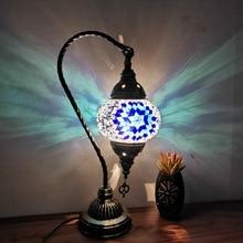 Mediterranean Lamp Decorative LED Desk Lamp Bar Hotel Bedroom Restore Ancient Ways Small Night Lights