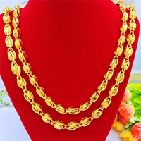 Fashion Yellow Gold 14K Men's Necklace for Wedding Engagement Jewelry Men's Chain Necklace Big Boss Gold Necklace Jewelry Gift