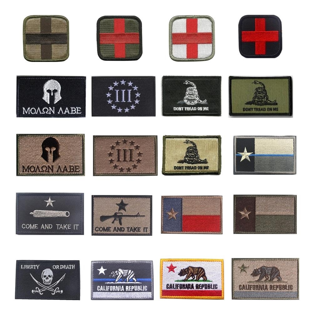 Embroidery Patch Medic Texas California Punisher Skull Military For Clothing Bag Caps Tactical Patches