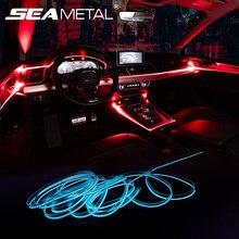 ภายในรถยนต์บรรยากาศ Light Strip APP การควบคุมเสียงโหมด RGB สีสันสดใสตกแต่ง Ambient โคมไฟแถบ Universal 2 M/ 4 M/6 M