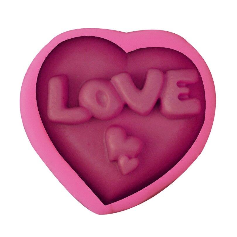 Любовь Сердце формы силиконовые формы DIY Шоколадное Мыло ручной работы пресс-форм для выпечки торта