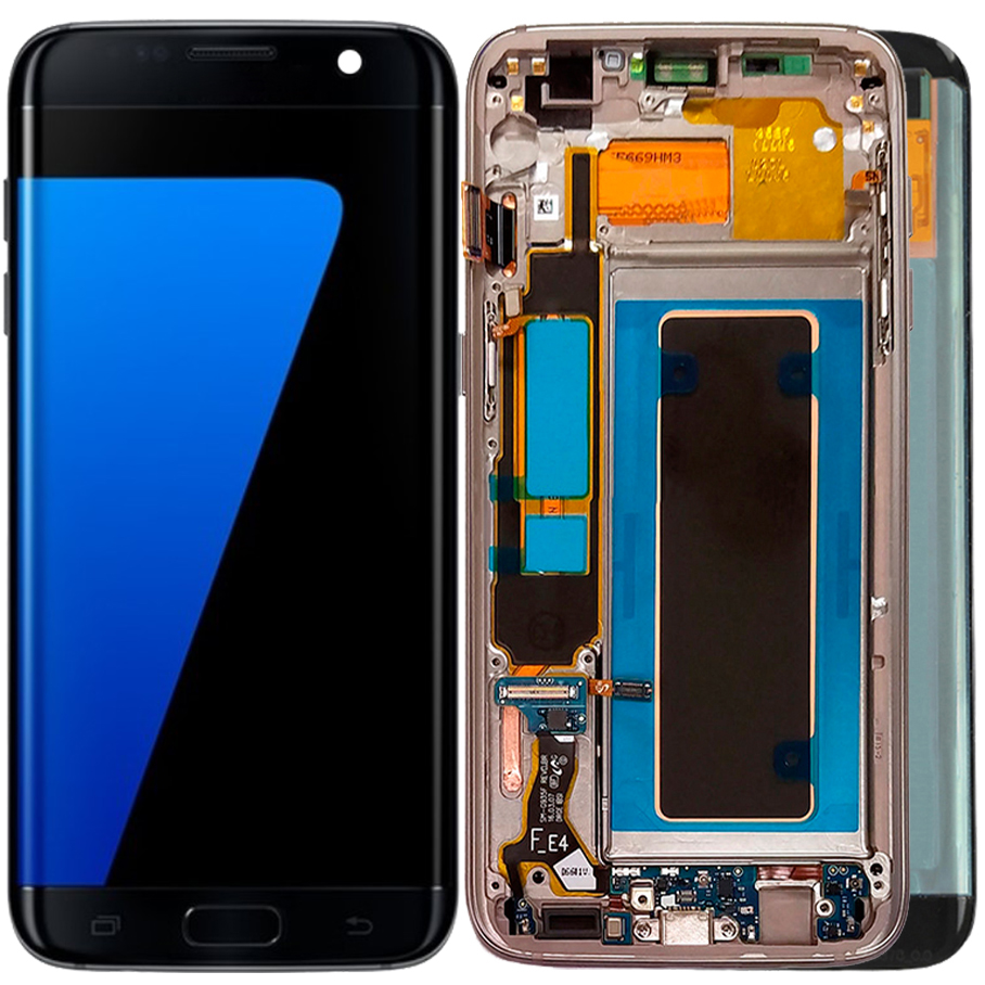 Nouveau S7 Edge AMOLED LCD pour Samsung Galaxy S7 Edge G935F G935A G9350 écran LCD avec cadre écran tactile brûler les ombres écran LCD