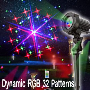 Image 5 - Outdoor Christmas Lights RGB Laser Projector Motion 32 Patterns Holiday Festoon Lantern Light New Years Garland Decor