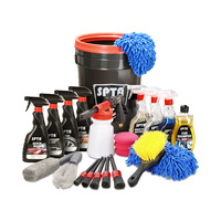 SPTA 23Pcs Ultimate Car Cleaning Care Kit Car Shampoo Engine Surface Degrease Weel & Ram Cleaner Tire Shine Car Clean Care Sets