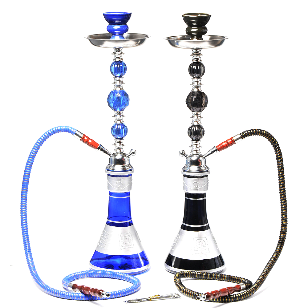 Travel Glass Shisha Hookah Pipe Chicha Narguile Completo Nargile Waterpijp With Sheesha Ceramic Bowl Charcoal Tongs Accessories