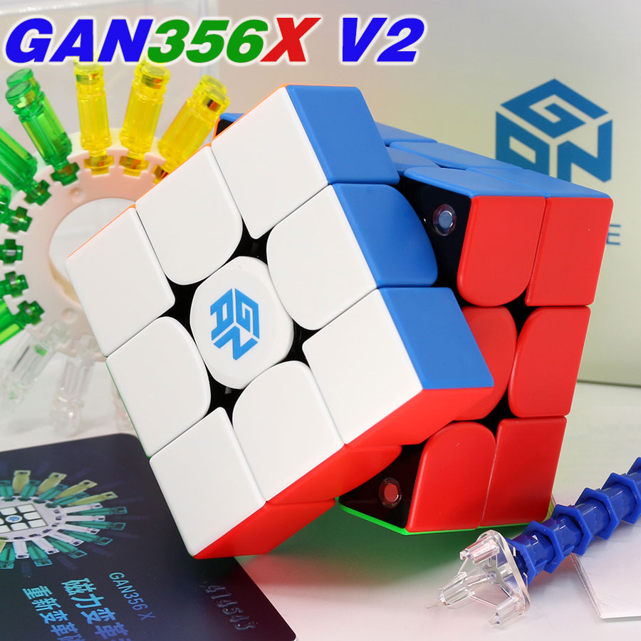 Puzzle Magic GAN Cube GAN356 X V2 GAN356XS Magnetic 3x3x3 3x3 AIR SM GAN 356 RS GAN460 M 4X4X4 4X4 2X2X2 Speed Cube Game Cubes