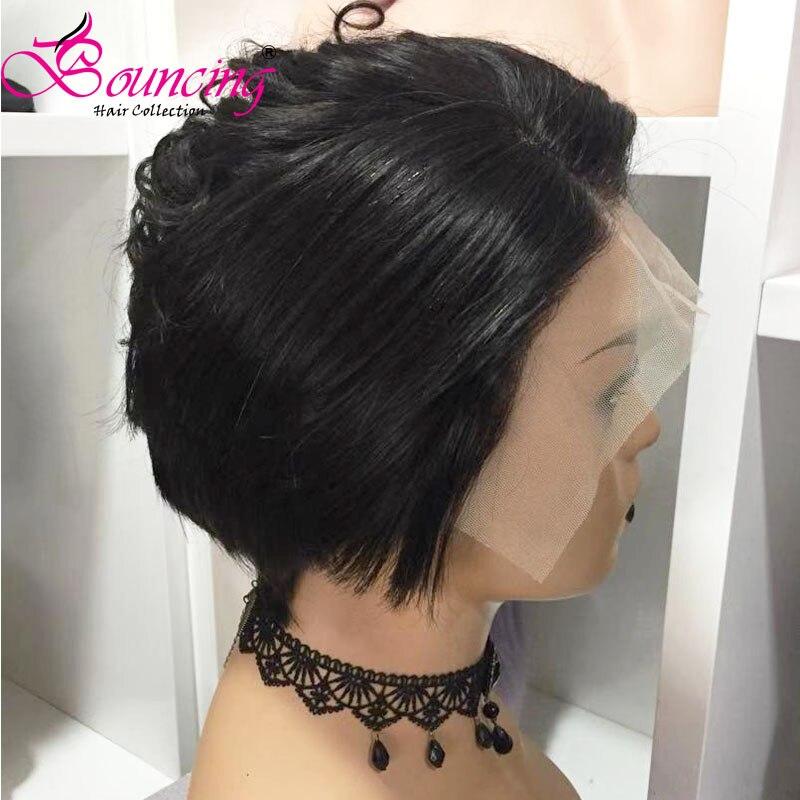 Image 5 - Bouncing Hair 13x4 Человеческие волосы Remy на кружеве, парики натурального цвета, короткий парик из 150 плотности, боковая часть для женщин-in Парик из натуральных волос на кружеве from Пряди и парики для волос on AliExpress