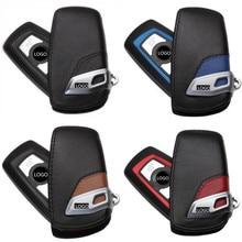 5X Leder Auto Schlüssel tasche Fall Abdeckung Shell Für BMW F10 F20 F30 NEUE 1 2 3 4 5 6 7 serie X3 X4 320I 118I 328I etc Brieftasche keychain