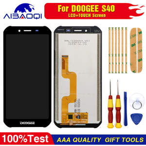 Image 1 - New original Touch Screen LCD Display LCD Screen For DOOGEE S40 Replacement Parts + Disassemble Tool+3M Adhesive