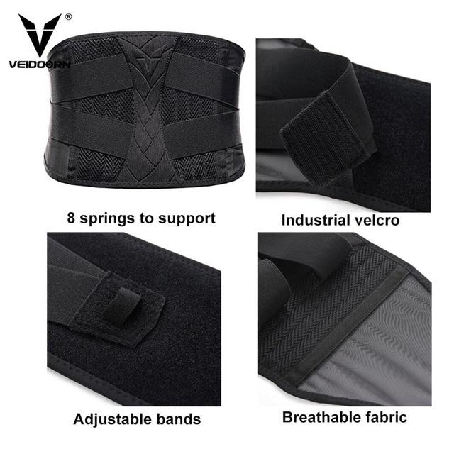 Veidoorn Waist Trimmer Trainer for Women Men Lower Back Lumbar Support Body Shaper Sweat Slimming Belt Corset Shapewear Gym 3