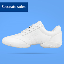 New arrival adult dance sneakers women's white Jazz/square dance shoes competitive aerobics shoes fitness gym shoes
