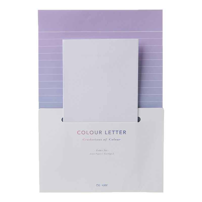 Creative Beautiful Letterhead Envelope Small Fresh Gradient Color Students Writing Supplies Gifts LX9A