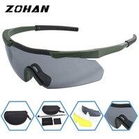 ZOHAN 편광 자전거 타기 야외 스포츠 자전거 안경 남성 여성 산악 자전거 선글라스 20g 고글 안경 3 LensUV400