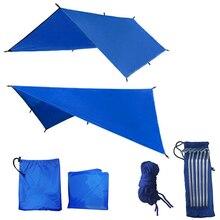 Tente su geçirmez Tarp piknik güneşlik Ultralight bahçe gölgelik yağmur tente açık kamp matHammock sinek plaj karavan salıncak