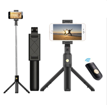 Bluetooth Extendable Remote Shutter Selfie Stick Tripod For Xiaomi Android Selfie Stick Monopod For IPhone Huawei IOS(China)