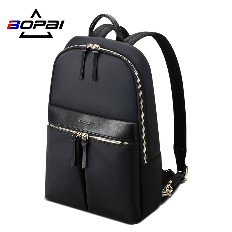 BOPAI New Fashion Women Backpack Waterproof Laptop Silm Purse Travel Large Capacity Business Backpack Ladies Bags