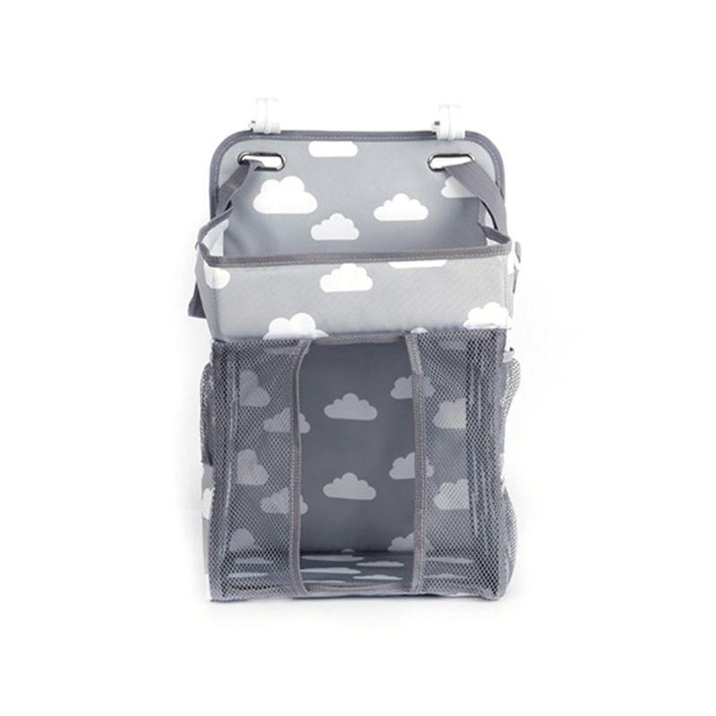 Baby Hanging Diaper Storage Bag Foldable Nursing Diaper Stacker Organizer Holder Shower Gifts For Newborn