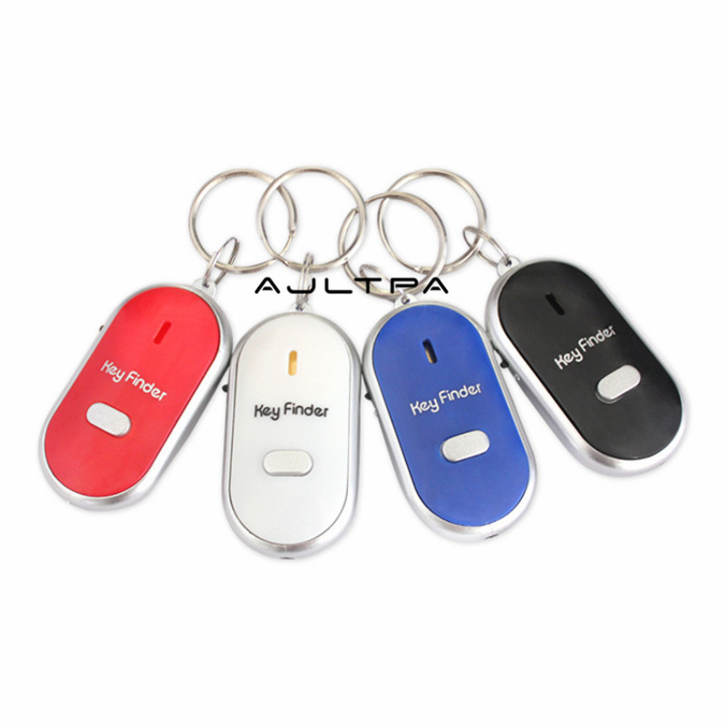 120Pcs Hot Sale Sound Whistle Control LED Key Finder Locator Find Lost Keychain Keys Chain H4870