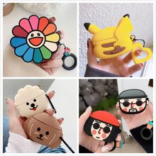 3D Earphone Case For Airpods Pro Case Silicone Stitch Cat Cartoon Headphone/Earpods Cover For Apple Air pods Pro 3 Case Keychain(China)
