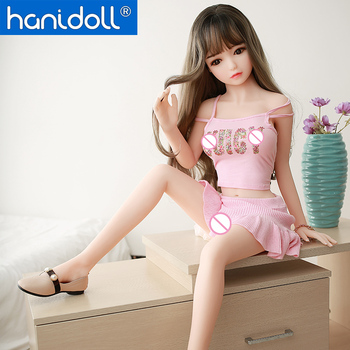 цена на Hanidoll Sex Doll 115cm TPE Anime Sex Doll for Men Silicone TPE Love Doll Realistic Vagina Real Adult Small Breast Sex Adult Toy