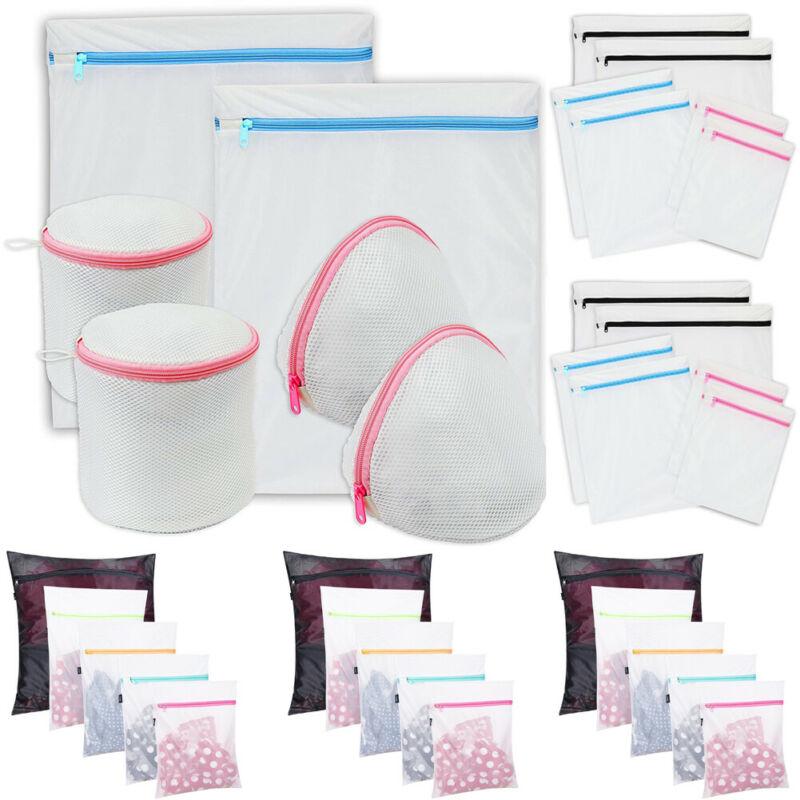 5/6PCS Large Pop Up Foldable Laundry Basket Mesh Hamper Washing Clothes Bag Storage Bin