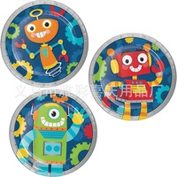 2019 Space Robot Boys Birthday Party Supplies Flags Cake Pan Tableware Set