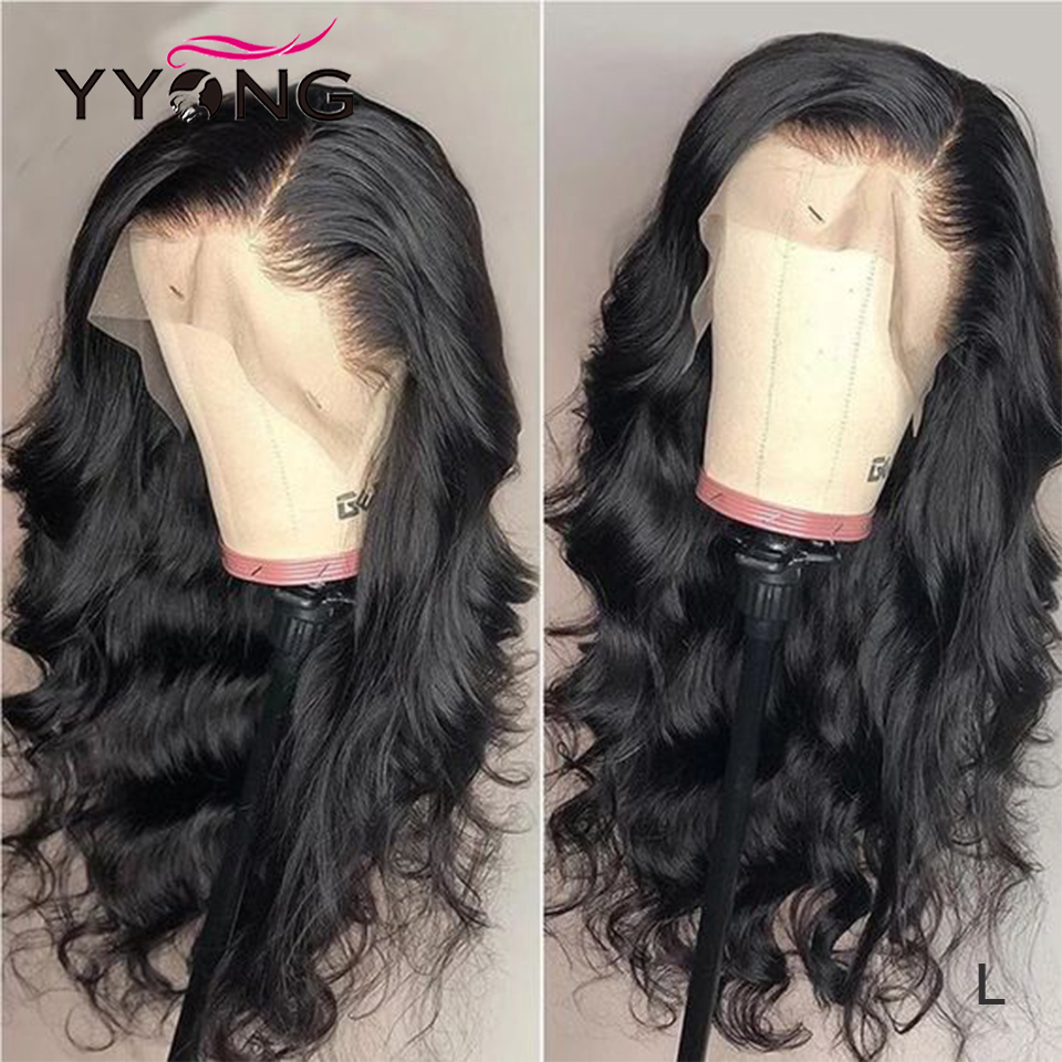 YYong Body Wave Lace Front Human Hair Wigs For Black Women 150% Density Brazilian Human Hair Lace Front Wigs Low Ratio Remy