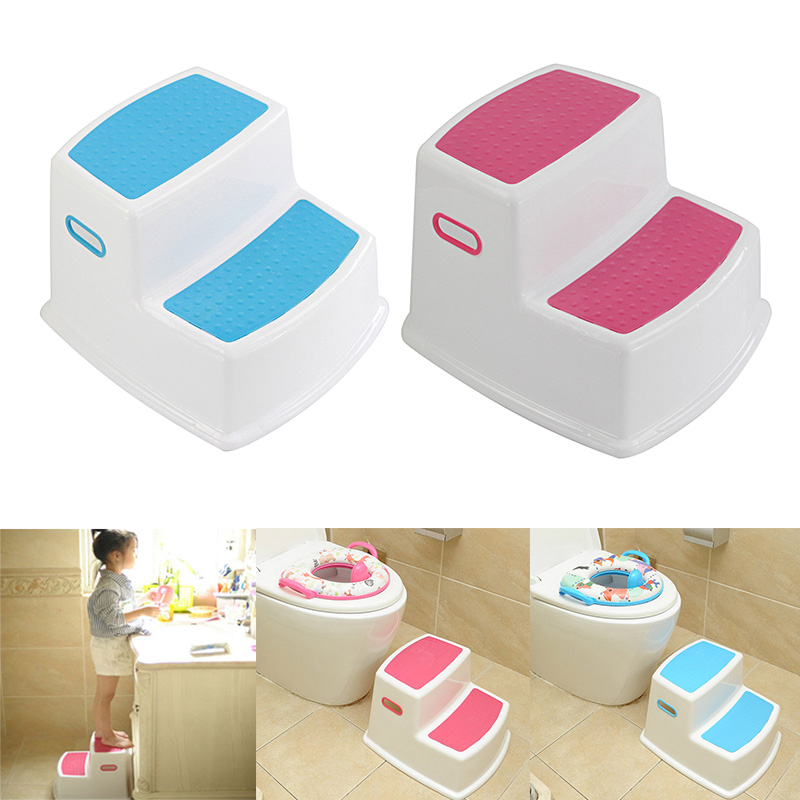 Newly 2 Step Stool for Kids Toddler Stool for Toilet Potty Training Slip Bathroom Kitchen XSD88|Children Stools| |  - title=