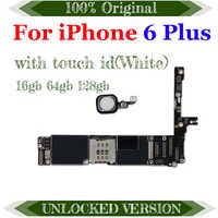 Free iCloud for iPhone 6 plus Motherboard with IOS Original unlocked for iphone 6 5.5 inch with Chips 16gb / 64gb / 128gb