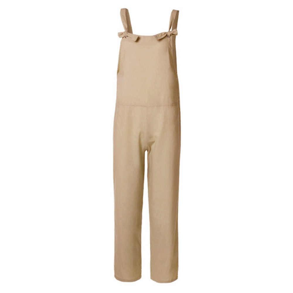 Летние женские комбинезоны Pantalon винтажные Комбинезоны из хлопка женские шаровары Pantalon плюс размер комбинезона S-5XL